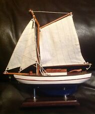 Vintage Hanah Sailing Yacht Wooden Model