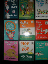 9 Dr. Suess Learn to read books Hop On Pop Cat In the Hat Green Eggs and Ham  +