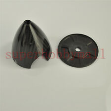 """1X 3.25""""/83mm Carbon Fiber Gas Spinner 3K Glossy For RC Airplane 2 Blades Prop"""