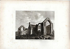 RARE ANTIQUE IRISH PRINT -St. MARY'S CHURCH, DROGHEDA - HOOPER COPPERPLATE(1792)