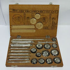 Valve Seat & Face Cutter Set - 12 Pcs Set For Vintage Cars & Bikes in Wooden box