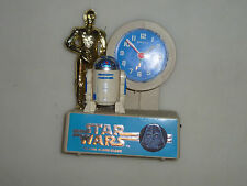 VINTAGE STAR WARS QUARTZ TALKING ALARM CLOCK R2D2 C3PO 1977 BRADLEY