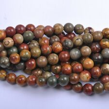 20Pcs Natural Picasso Gemstone Round Spacer Loose Beads 8MM #12