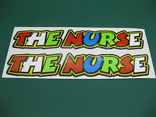 2 THE NURSE STICKERS ROSSI STYLE