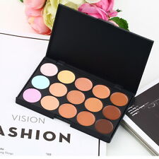 15 Color Pro Makeup Facial Concealer Camouflage Cream Palette Cosmetic New XQ