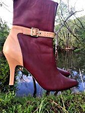 COUP D'ETAT Cowboy Boots LEATHER Two Tone Drag Queen Stiletto Womens Shoes Sz 12