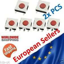 2x Tactile Push Button Switch Tact Switch Micro Switch 4-Pin SMD 6*6*2.5mm  - V4