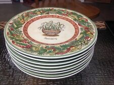 Villeroy Boch Festive Memories Plates Snowdrop Set of 8 New 8 1/2 inc