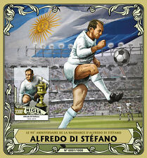 Niger 2016 MNH Alfredo di Stefano 90th Birth Anniv 1v S/S Football Soccer Stamps