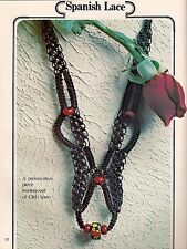 Spanish Lace Macrame Necklace Pattern Braided Jewelry #7118 Symphony of Strings