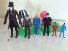 Collectable Charlie & the Chocolate Factory figures lot Willy Wonka Johnny Depp