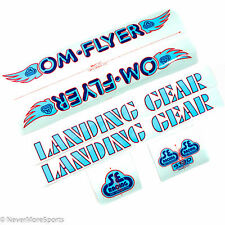 "SE Racing Bikes Retro OM Flyer Decal Set 2015 26"" BMX Baby Blue/Blue/Red"