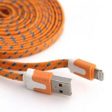 Long 2M USB Cable for iPhone 6 5S 6S 5C Data Charger Extension Orange Flat Lead