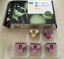 HP 02 Combo-Pack, 5 Ink Cartridges Multi-Color Ink (New damaged box)FREE SHIPPNG
