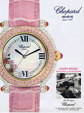 PUBLICITE ADVERTISING 084 1995 CHOPARD montre Happy sport