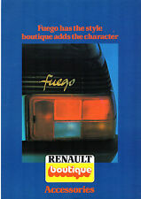 RENAULT FUEL FOR LIFE ACCESSORI 1980-81 mercato britannico FOLDOUT BROCHURE DI VENDITA