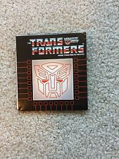 TRANSFORMERS G1 1986 CATALOG BOOKLET: Multi-fold Autobot & Deception Lineup List