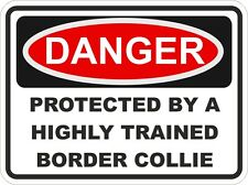 Dog Breed BORDER COLLIE Danger Sticker Pet for Bumper Locker Car Door