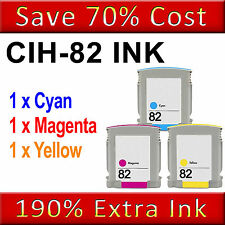 3 NON-OEM Ink Cartridge Replace for Designjet 500ps Plus 50ps 510 510ps 10 82