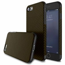 Luxury Slim Carbon Fiber Silica TPU Soft Case Cover for iPhone & Samsung
