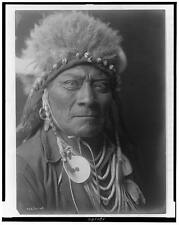 American Indian Native American Repro Photo 5x4 inch 'One Blue Bead' 1908
