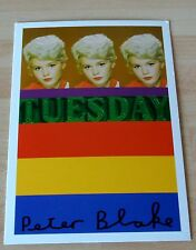 Sir Peter Blake Signed Autograph Official Postcard 'TUESDAY WELD' ART & COA
