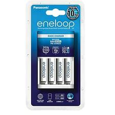4 x Panasonic eneloop 750mAh AAA Rechargeable Batteries & Battery Mains Charger