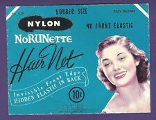 UNUSED Vintage NoRUNette Nylon Hair Net - Original Packaging