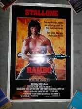 Rambo First Blood 2 II 1st STallone One Sheet Original Poster Rolled 27x41 VG+
