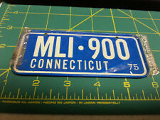 Connecticut Bicycle plate - MLI-900 - 75 Novelty Metal Bike plate -in plastic