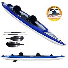 New! Aquaglide Columbia XP Tandem XL15-ft Inflatable Kayak for 1-3 paddlers