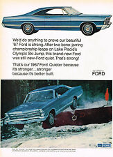 Vintage 1967 Magazine Ad Ford We'd Do Anything to Prove Our '67 Ford Is Strong