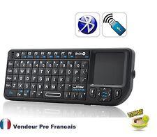Mini Clavier QWERTY Bluetooth avec Touchpad et pointeur laser rechargeable