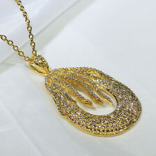 18K Yellow Gold Filled CZ Women Fashion Jewelry Luxury Necklace Pendant P3216