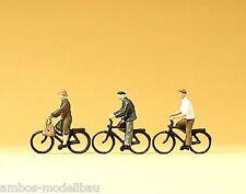 Preiser N 79087  Radfahrer, 3 Figuren, handbemalt, Neu