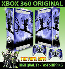 XBOX 360 MOONLIGHT GOTHIC FAIRY SILHOUETTE WINGS STICKER SKIN & 2 PAD SKINS
