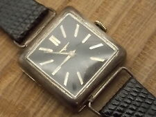 Vintage Sterling Silver Longines wrist watch with swivel lugs cal 23Z 17 jewel