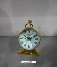 Vintage Nautical Roman Counter Table Top  Full Brass Clock A Home Decor Item
