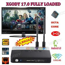 XGODY 3+32G Octa core S912 Smart Android 6.0 TV BOX 4K 17.0 Add-ons Fully Loaded