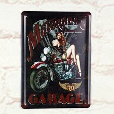 Motorhead In Garage Poster Tin Antique Metal Signs Home Pub Bar Wall Decor