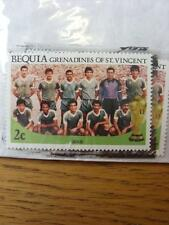 1986 World Cup Stamp: Bequia - Iraq Team
