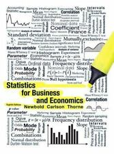 Statistics for Business and Economics 8th Edition Newbold Carlson Thorne