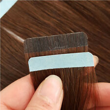 """18"""" Russian Remy Tape in Human Hair Extensions Dark Brown Skin Weft Hair 5pcs"""