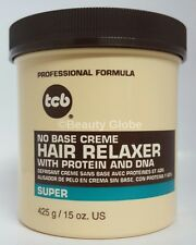 TCB Professional No Base Creme Hair Relaxer Super Strength /15 oz