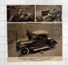 1919 Wireless Telephone In Operation On A Motorcar
