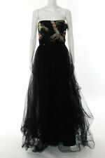 Marchesa Notte Black Floral Madison Gown Size 6 New $1295 10143710