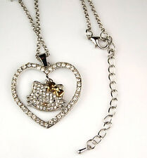 Hello Kitty Necklace Gold Bow Swarovski Crystal Fashion Jewelry