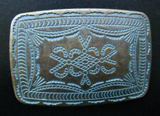 NATIVE TRIBAL ART STYLE WESTERN  COWBOY COWGIRL BELT BUCKLE BOUCLE DE CEINTURE