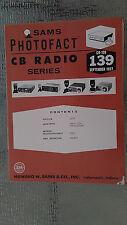 Sam Photofact CB 139 Radio Service Manual Repair book