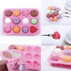 12 In 1 Silicone Chocolate Cookie Muffin Cake Ice Jelly Soap Baking Mold Mould U